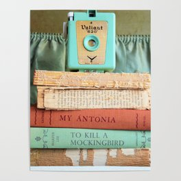 Vintage Suitcase - To Kill a Mockinbird / My Antonia Poster