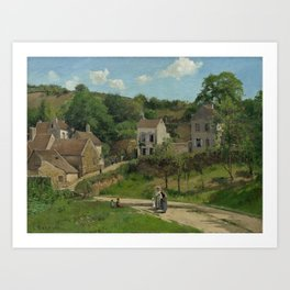 Camille Pissarro - The Hermitage at Pontoise Art Print
