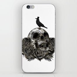 Skull and Crow iPhone Skin