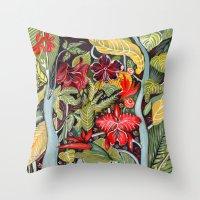 paradise Throw Pillows featuring Paradise  by Felicia Cirstea