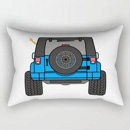 Jeep Wave Back View - Blue Jeep Rectangular Pillow