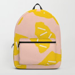 Modern abstract geometrical summer oranges pattern Backpack