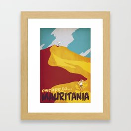 Mauritania Framed Art Print