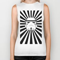 storm trooper Biker Tanks featuring Storm Trooper by RobotSpaceBrain