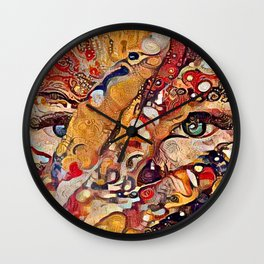 It Was Written All Over Her Face Wall Clock