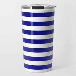 navy stripes Travel Mug
