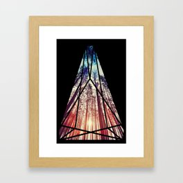 Stained Glass Forest  Framed Art Print