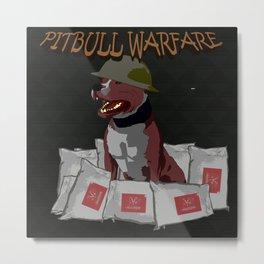 Pitbull Warfare Metal Print