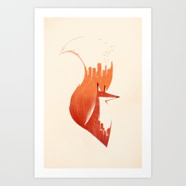 A Tail Of Two Cities  Art Print