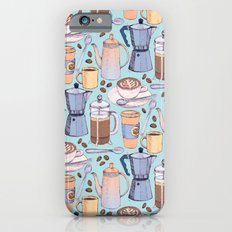 Coffee Love on Blue iPhone 6s Slim Case