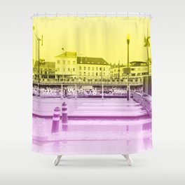 Brussels Canal District Shower Curtain
