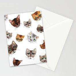 Bengal cat pattern Stationery Cards