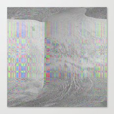 04-24-14 (Pink Cloud Bitmap Glitch) Canvas Print