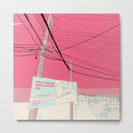 Valparaiso   Travelinary #01 Metal Print