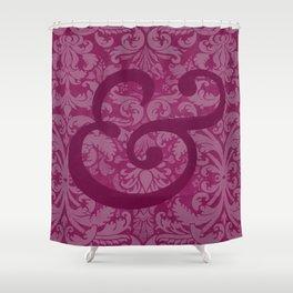 Baskerville Italic Ampersand Shower Curtain