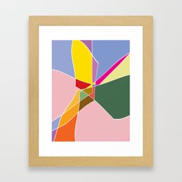 abstract in floral colors Framed Art Print