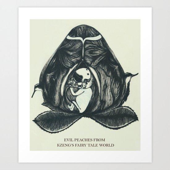 Evil Peaches Art Print