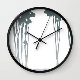 Trees in the Mist Wall Clock