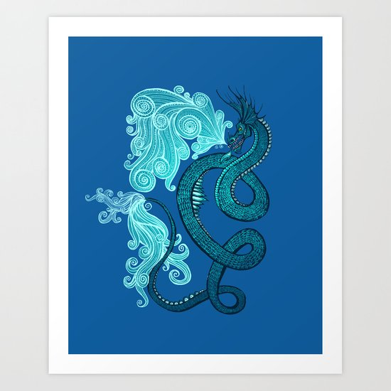 Ice Serpent Art Print