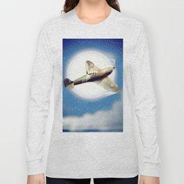 Spitfire at night Long Sleeve T-shirt
