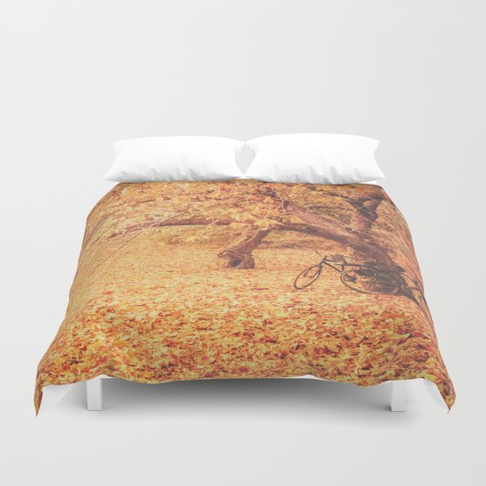Autumn - New York City Duvet Cover