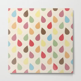 Colorful Teardrop Pattern Metal Print