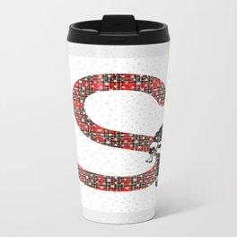 S is for Santa and Snow Travel Mug