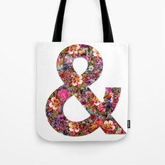 & ampersand print Tote Bag