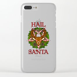 Hail Santa Pentagram Door Hanger Christmas Clear iPhone Case