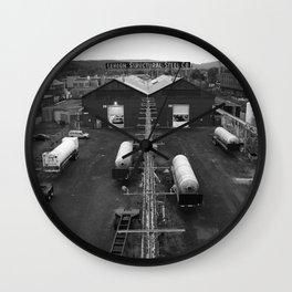 Steel Co. Wall Clock