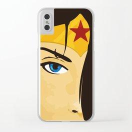Wonder, Hero DC, Woman Clear iPhone Case