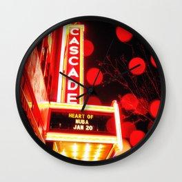 Rainy Night at the Theatre Market Street Redding California Wall Clock