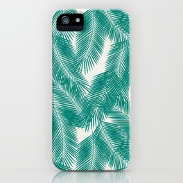 Green Tropical Palm Leaves iPhone Case