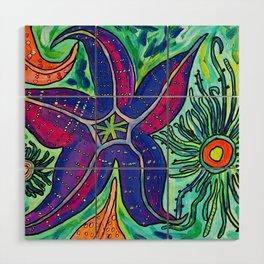 Alki Sea Stars and Anemones  Wood Wall Art