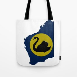 Western Australia Map with Western Australian WA Flag Tote Bag