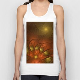 Fantasy in Copper and Gold Unisex Tank Top