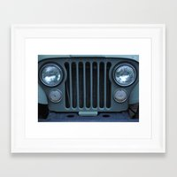 jeep Framed Art Prints featuring Jeep by Rosa Maun