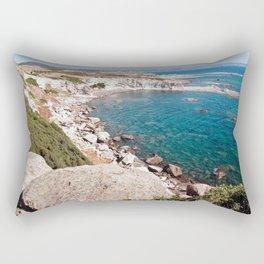 Cliff-Lined Bay - Sardinia - Italy Rectangular Pillow