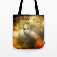 ghost Tote Bags featuring Ghost  by Ganech joe