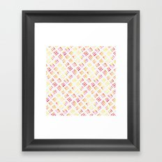 Day 004: Margot's Daily Pattern Framed Art Print