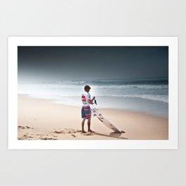 Pro Surfer Kolohe Andino Art Print