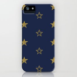 Golden Dust Stars | Pattern Art iPhone Case