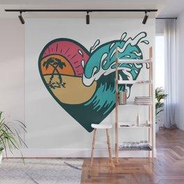 Wave Heart Wall Mural