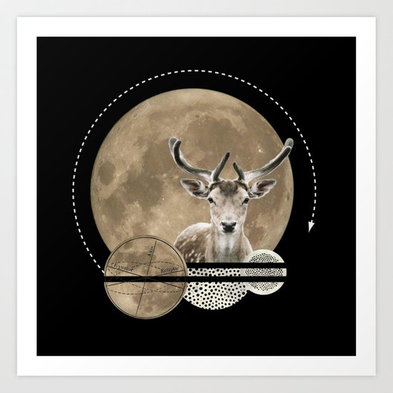Real. Reindeer. Art Print