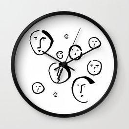 Wondering Heads Wall Clock