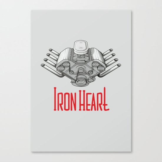 Iron Heart W Canvas Print