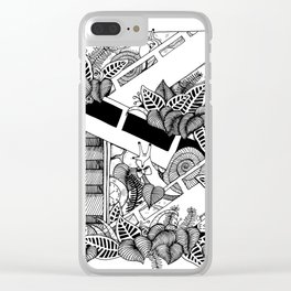 Snails On Escalators Clear iPhone Case