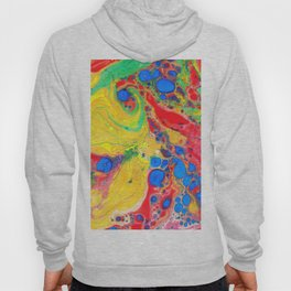 Marbling, Tie Dye Effect Abstract Pattern Hoody