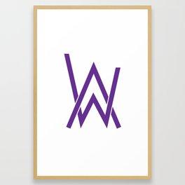alan walker initial purple Framed Art Print