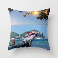 thailand Throw Pillows featuring Rak Thailand by wetravelasequals